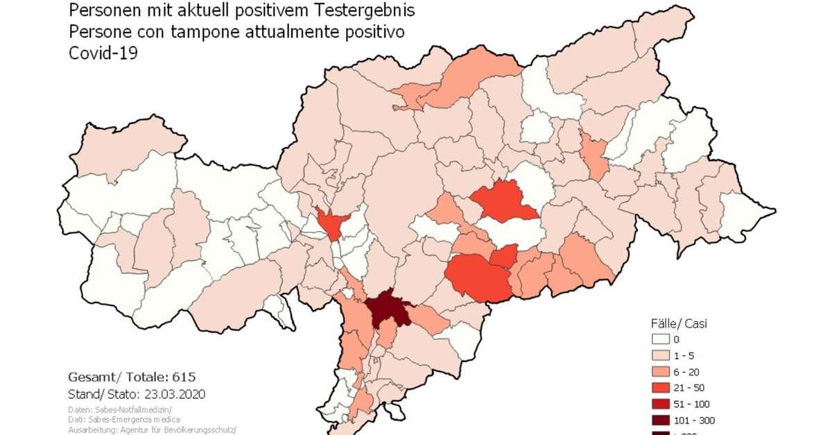 Cartina Mondo Excel.Coronavirus Online La Mappa Dei Contagi In Alto Adige Cronaca Alto Adige