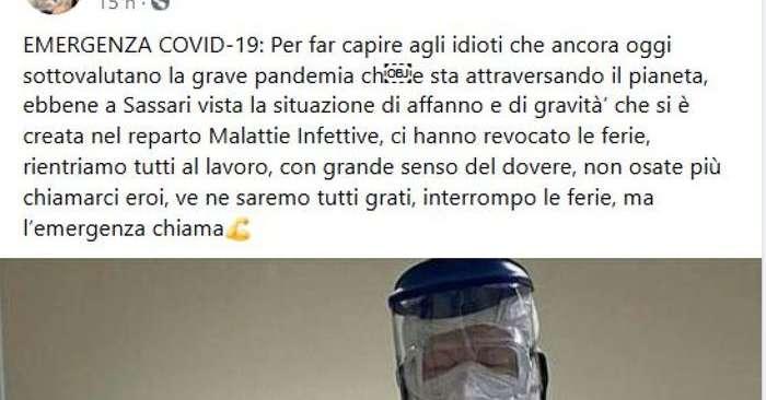 L Emergenza Chiama Virale Post Infettivologo Sassari Salute E Benessere Alto Adige