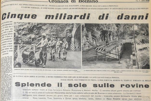 Novembre 1966 travolti dall alluvione bolzano alto adige for Necrologi defunti bolzano giornale alto adige