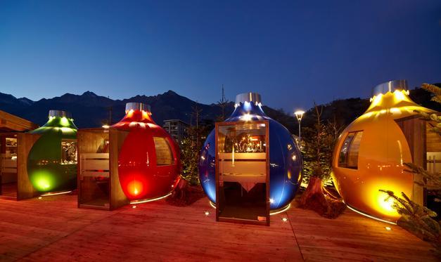 Natale a Merano: apre lo Sky bar sulla terrazza del padiglione delle ...